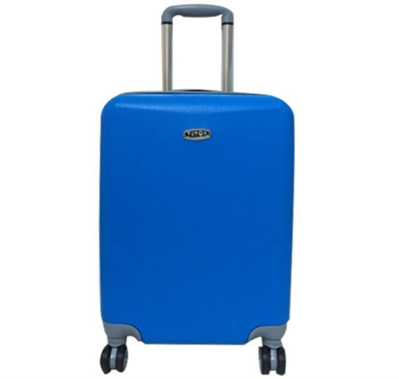 11fb1348a5e71 Vitrinim.net-TUTQN Kırılmaz Plastik Bavul Mavi Kabin Boy Valiz %100 PP